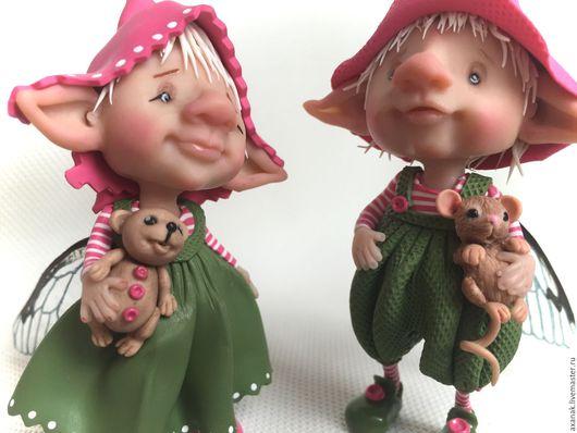 Коллекционные куклы ручной работы. Ярмарка Мастеров - ручная работа. Купить Патрик и Оливия. Handmade. Зеленый, лесной житель