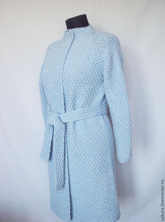 """Кофты и свитера ручной работы. Ярмарка Мастеров - ручная работа. Купить Кардиган """"Амстердам"""". Handmade. Голубой, пальто, модный кардиган"""