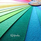 Материалы для творчества ручной работы. Ярмарка Мастеров - ручная работа ЖФ-03 Жесткий фетр, набор 40 цветов, 2 размера, 1,2мм (Китай). Handmade.