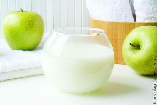 Пена, молочко для ванны ручной работы. Ярмарка Мастеров - ручная работа. Купить Яблоко - молочная ванна. Handmade. Салатовый