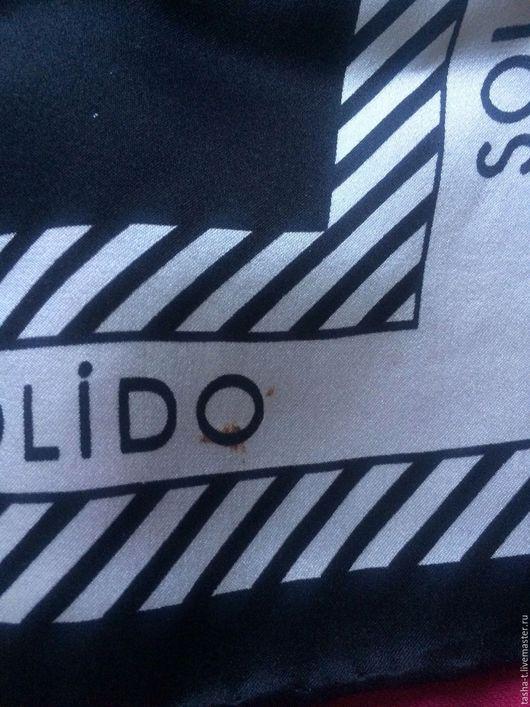 Винтажная одежда и аксессуары. Ярмарка Мастеров - ручная работа. Купить Solido Ретро шарф шелк. Handmade. Чёрно-белый, платочек