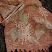 Шарф валяный Гармония, ручное окрашивание