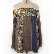 Одежда ручной работы. Ярмарка Мастеров - ручная работа Туника свободная туника многоцветная Джемпер свободный. Handmade.