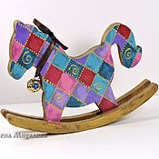Куклы и игрушки handmade. Livemaster - original item Rocking horse, wooden toy , hand-painted. Handmade.