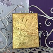 Pictures handmade. Livemaster - original item Painting with a Golden rose flower