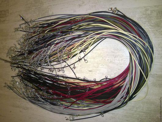 Для украшений ручной работы. Ярмарка Мастеров - ручная работа. Купить Шнур для подвески вощеный все цвета. Handmade. Коричневый, бусы