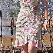 "Одежда ручной работы. Ярмарка Мастеров - ручная работа Сарафан - ""Беж"". Handmade."