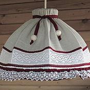 Для дома и интерьера handmade. Livemaster - original item Lampshade Pendant lamp Red wine. Handmade.