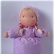 Куклы и игрушки ручной работы. Ярмарка Мастеров - ручная работа вальдорфская спальная куколка (из набивной фланели). Handmade.