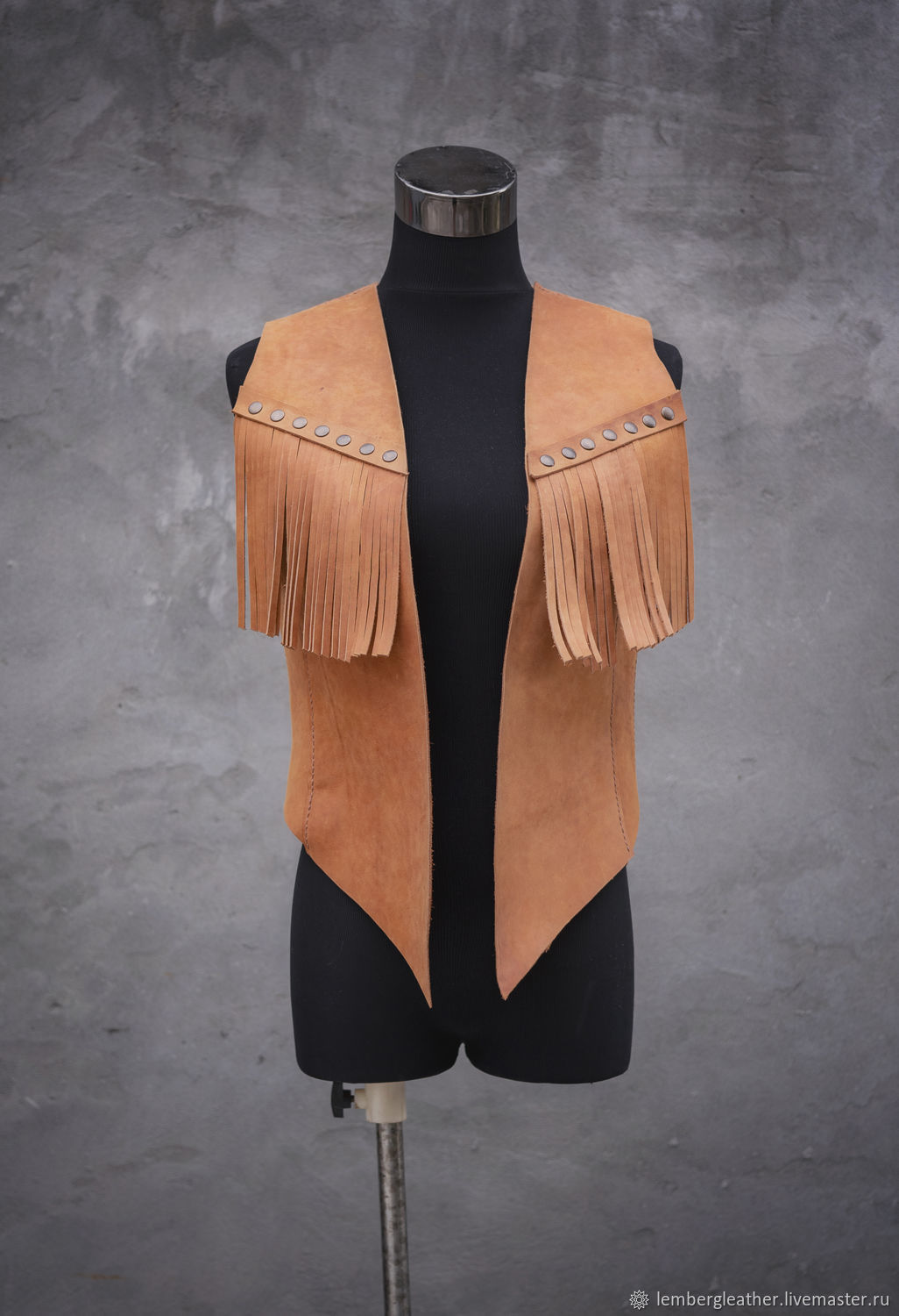 Women's leather vest (possible engraving), leather vest, Vests, Moscow,  Фото №1