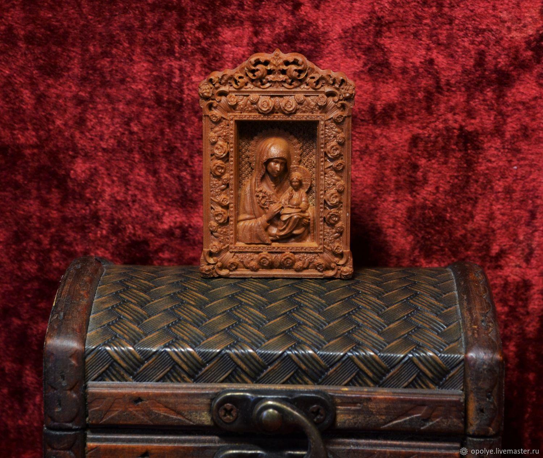 Резная миниатюрная Икона из дерева, Иконы, Владимир,  Фото №1