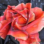 """Аксессуары ручной работы. Ярмарка Мастеров - ручная работа Платок """"Роза"""". Handmade."""