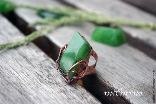 """Кольца ручной работы. Ярмарка Мастеров - ручная работа. Купить Кольцо """"Яблоневый сад"""". Handmade. Зеленый, зелень, подарок девушке"""