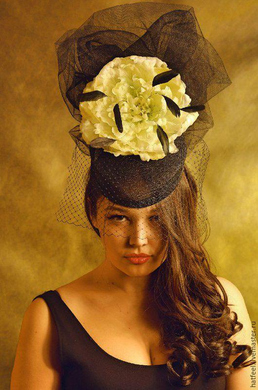 """Шляпы ручной работы. Ярмарка Мастеров - ручная работа. Купить Шляпа для скачек """"Helga"""". Handmade. Черный, Соломка, соломенная шляпка"""