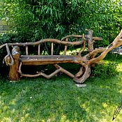 Для дома и интерьера handmade. Livemaster - original item Bench, decorative garden out of driftwood and pine. Handmade.