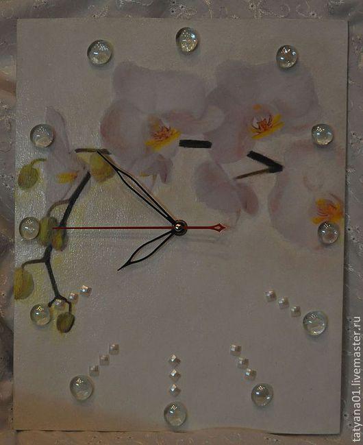 """Часы для дома ручной работы. Ярмарка Мастеров - ручная работа. Купить Часы настенные """"Нежность"""". Handmade. Белый, часы декупаж"""