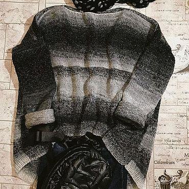 Одежда ручной работы. Ярмарка Мастеров - ручная работа Свитер оверсайз. С удлененной спинкой.. Handmade.