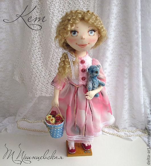 Коллекционные куклы ручной работы. Ярмарка Мастеров - ручная работа. Купить Кет. Handmade. Бледно-розовый, коллекционная кукла