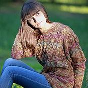 """Одежда ручной работы. Ярмарка Мастеров - ручная работа Джемпер из твида """"Осенние листья"""". Handmade."""