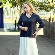 """Одежда handmade. Livemaster - original item Knitted jacket """"Summer cotton"""". Handmade."""