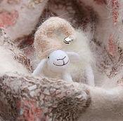 Шапки ручной работы. Ярмарка Мастеров - ручная работа Шапочка Rosa d. Бергшаф, меринос, пух кролика, шелк. Handmade.