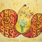 Картины и панно ручной работы. Ярмарка Мастеров - ручная работа Влюблённые улиточки. Handmade.