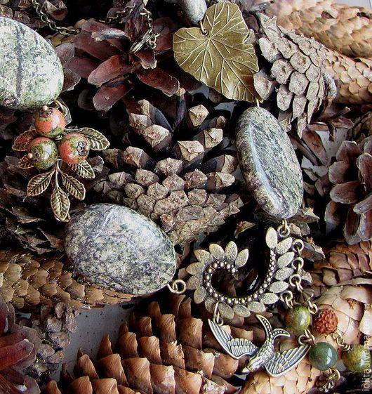 """Колье, бусы ручной работы. Ярмарка Мастеров - ручная работа. Купить Колье """"В чаще леса"""" с яшмой. Handmade. Лес"""