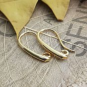 Материалы для творчества handmade. Livemaster - original item Earrings hooks for earrings 20x11 mm gold plated th. Korea (2655). Handmade.