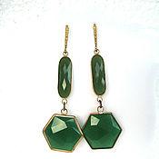Украшения handmade. Livemaster - original item Natural Green Jade Earrings. Handmade.