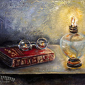 Картины и панно handmade. Livemaster - original item Still life oil RED BOOK. Handmade.