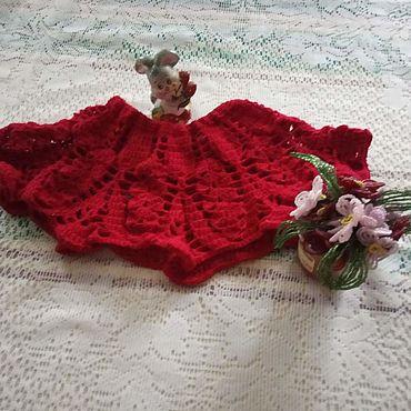 Одежда ручной работы. Ярмарка Мастеров - ручная работа Юбки: бордо. Handmade.