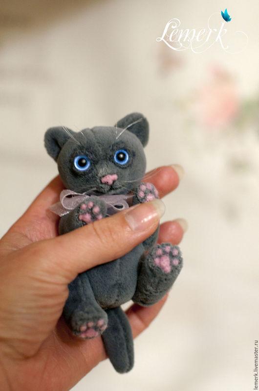 Мишки Тедди ручной работы. Ярмарка Мастеров - ручная работа. Купить Маркус. Серый тедди-котенок. Handmade. Серый
