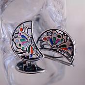 Украшения ручной работы. Ярмарка Мастеров - ручная работа Серьги серебро Бабочки. Handmade.