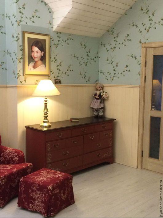 Мебель ручной работы. Ярмарка Мастеров - ручная работа. Купить Комод Венеция. Handmade. Бордовый, роспись мебели