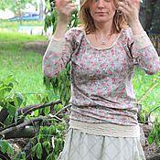 Одежда ручной работы. Ярмарка Мастеров - ручная работа -10%Трикотажная летняя кофточка. Handmade.