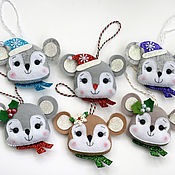 Сувениры и подарки handmade. Livemaster - original item Christmas toys: felt