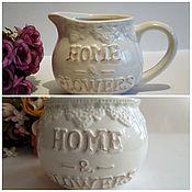 """Материалы для творчества ручной работы. Ярмарка Мастеров - ручная работа Кашпо """"Home flowers"""" керамика два вида. Handmade."""
