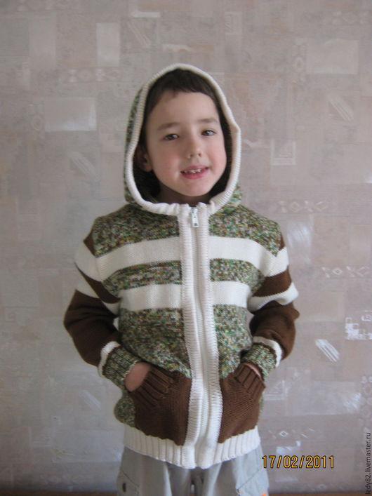 Одежда для мальчиков, ручной работы. Ярмарка Мастеров - ручная работа. Купить Кофта для мальчика на замке. Handmade. Комбинированный, кофта с капюшоном