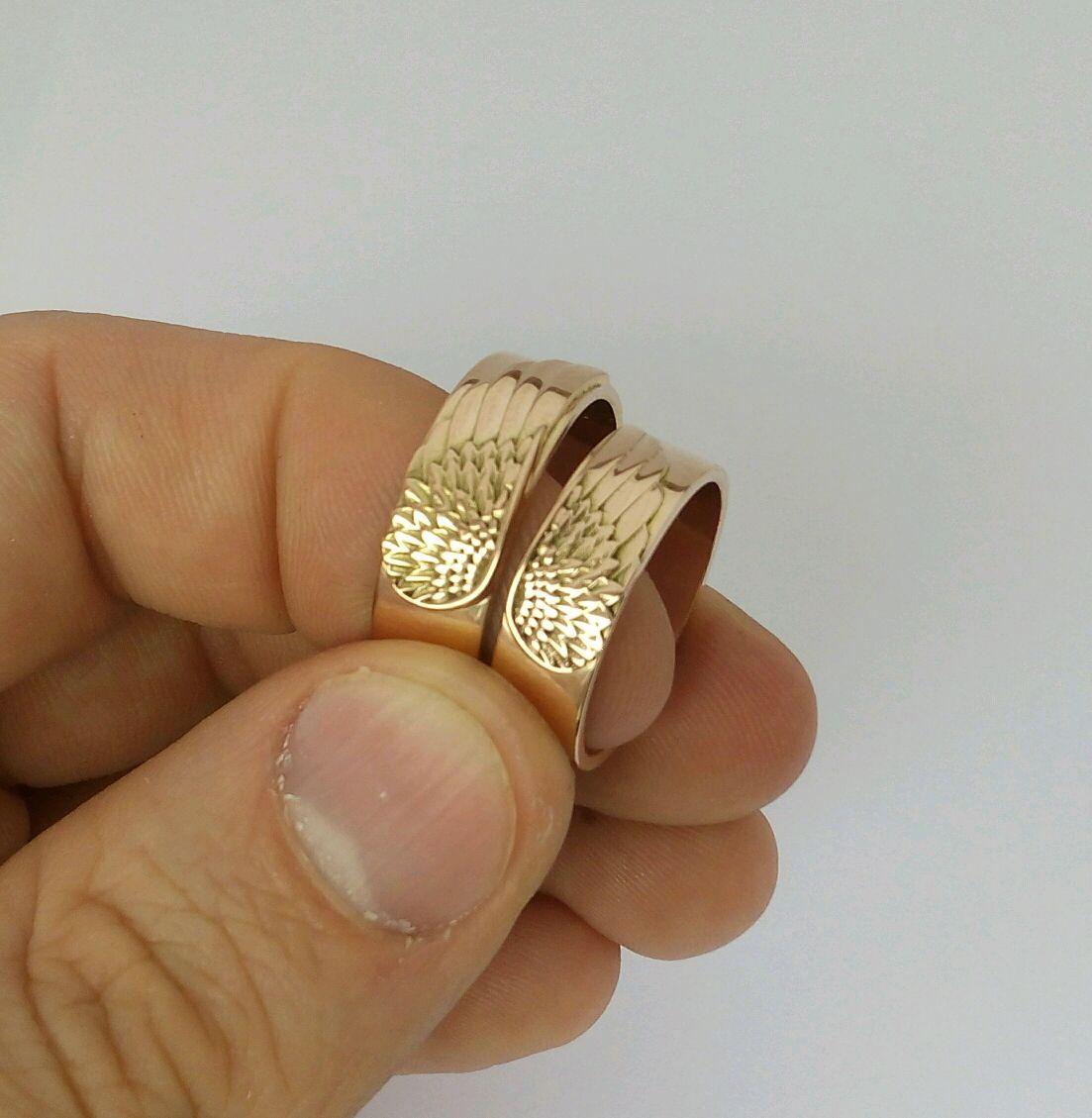 4743c299cb0d Свадебные украшения ручной работы. Ярмарка Мастеров - ручная работа. Купить Обручальные  кольца Крылья Ангела ...