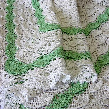 Текстиль ручной работы. Ярмарка Мастеров - ручная работа Плед детский вязаный ажурный. Handmade.