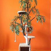 Для домашних животных, ручной работы. Ярмарка Мастеров - ручная работа Когтеточка - комплекс  (Большое дерево). Handmade.