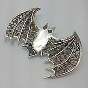 "Украшения handmade. Livemaster - original item Brooch ""Bat"" from silver. Handmade."