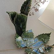"""Для дома и интерьера ручной работы. Ярмарка Мастеров - ручная работа Для ванной набор """"Хмель"""", керамика. Handmade."""