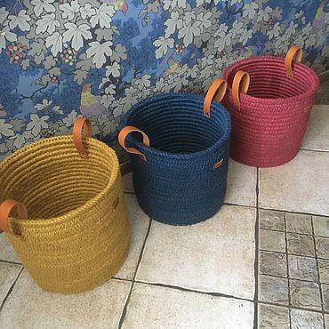 Для дома и интерьера ручной работы. Ярмарка Мастеров - ручная работа Корзины джутовые. Handmade.
