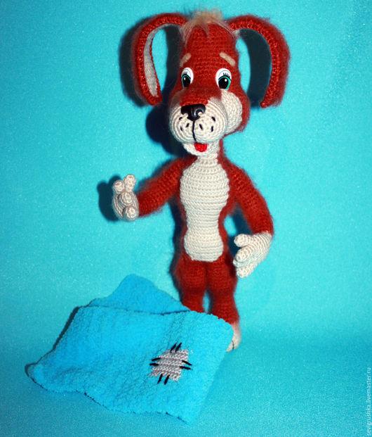 Игрушки животные, ручной работы. Ярмарка Мастеров - ручная работа. Купить Рыжий пёс. Собака вязаная. Handmade. Рыжий