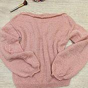 Одежда ручной работы. Ярмарка Мастеров - ручная работа Легкий свитер с обьемными рукавами. Handmade.