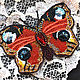 """Броши ручной работы. Ярмарка Мастеров - ручная работа. Купить Брошь """"Бабочка"""". Handmade. Рыжий, брошь с бабочкой, мотылек"""