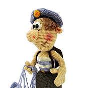 Stuffed Toys handmade. Livemaster - original item Souvenir military gift military knitted toy paratrooper. Handmade.