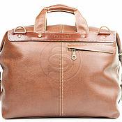 Сумки и аксессуары handmade. Livemaster - original item Leather travel bag Modern brown. Handmade.