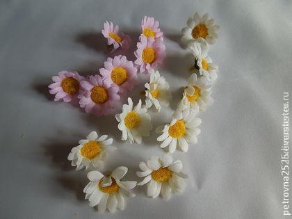 Другие виды рукоделия ручной работы. Ярмарка Мастеров - ручная работа. Купить Ромашки б/стебля 3,5  и 5 см. Handmade.